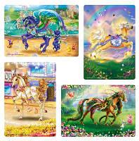Пазлы Castorland 4х 04125 23*16,5 Волшебные лошадки 8-12-15-20