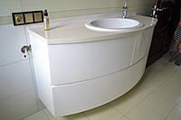 Радиусная тумба в ванную комнату под заказ, фото 1