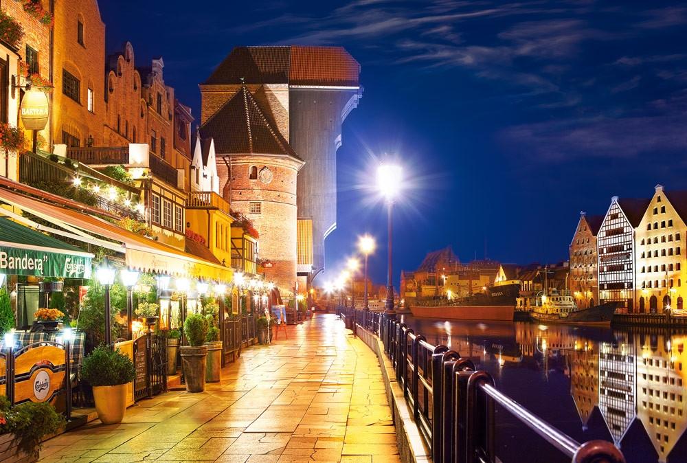 Пазлы Castorland 103379 Береговая линия ночью, Гданьск
