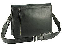 Кожаная сумка для ноутбука Visconti ML23 carter (black)