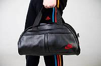 Сумка  Nike зам. кожа красный  логотип