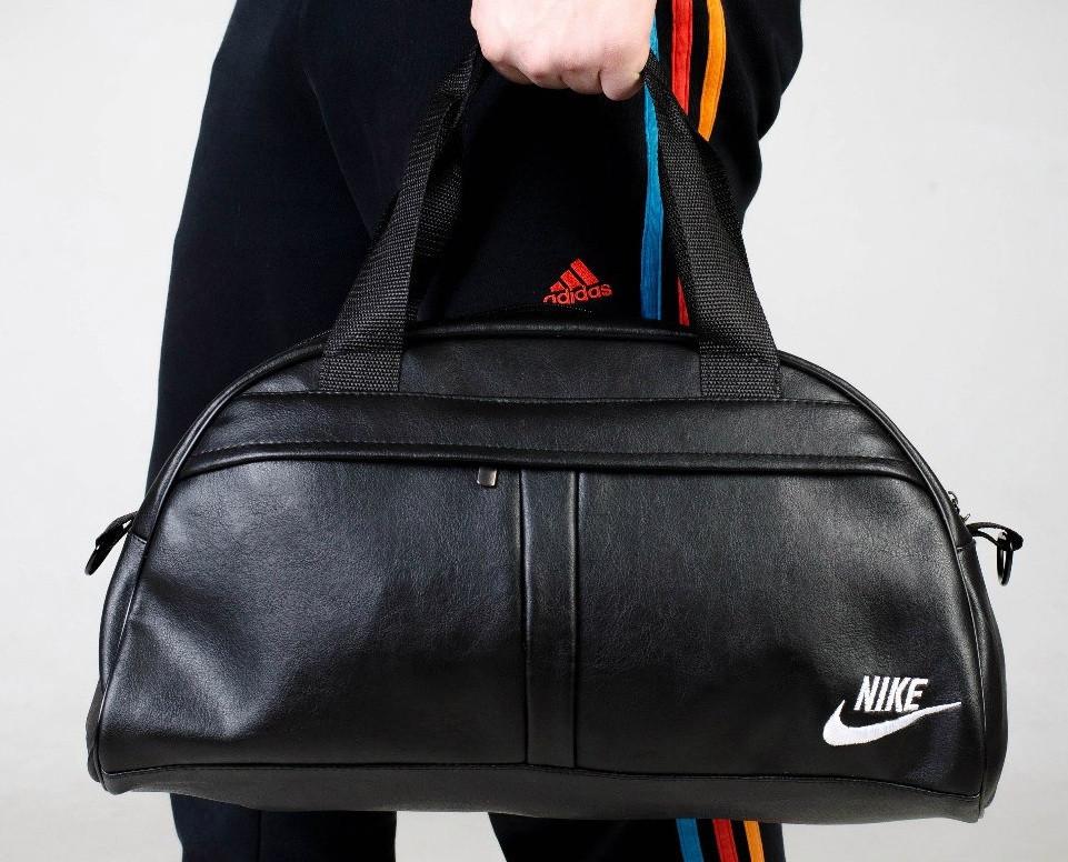 Сумка  Nike зам. кожа белый  логотип -реплика