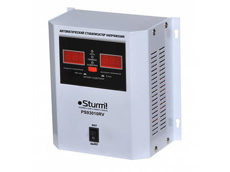 Стабилизатор напряжения релейный Sturm 1000 ВA настен. PS93010RV, фото 2