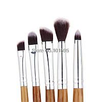 Бамбуковые кисти  для макияжа глаз 5 штук
