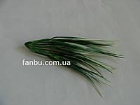 Искусственный зеленый пучок травы с белыми кончиками длиной 13 см