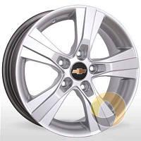 Литые диски Storm YQR-019 silver W6.5 R15 PCD5x105 ET39 DIA56.6