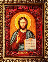 Икона из янтаря Спаситель (Картины и иконы из янтаря)