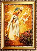 Икона из янтаря Голубь (Картины и иконы из янтаря)