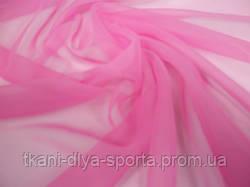 Шифон насыщенный розовый