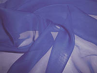 Шифон сине-голубой