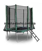 Механический батут прямоугольный с защитной сеткой (215х150см), фото 3