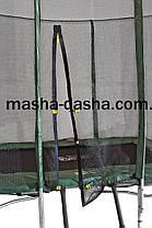 Механический батут прямоугольный с защитной сеткой (215х150см), фото 2