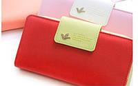 Красный женский кошелек вместительный удобный модный, фото 1