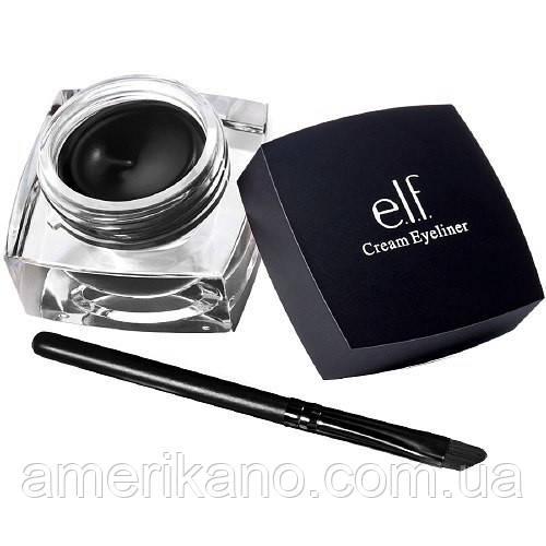 Гелевая подводка для глаз e.l.f. Studio Cream Eyeliner Цвет Black Черный