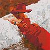 """Схема для вышивания бисером """"Lady in Red"""""""