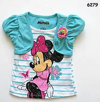 Футболка Minnie Mouse для девочки. Маломерная. 18 мес