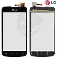 Touchscreen (сенсорный экран) для LG Optimus L5 Dual Sim E455, черный, оригинал