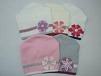 Красивая  осенняя шапка для девочки