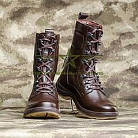 Берцы евро brown кожаные