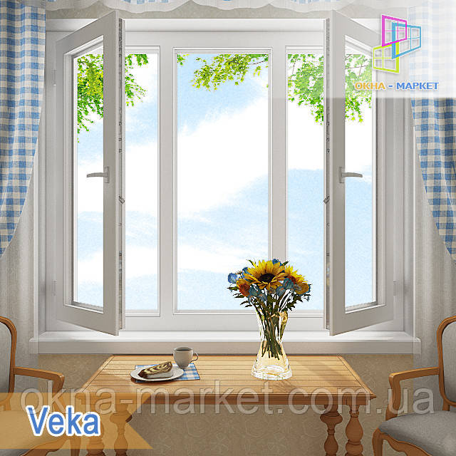 Трехстворчатое окно Века 1,8*1,4