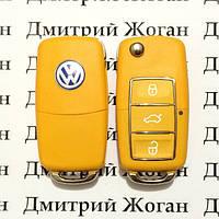 Корпус выкидного автоключа для VOLKSWAGEN (Фольксваген) 3 - кнопки,лезвие HU66,HU49