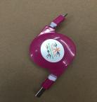 Кабель USB/microUSB Рулетка 1м (цвета в асс.)  *1604