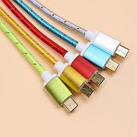 Кабель USB - microUSB Good Quality 1м (цвета в ассортименте) *1606