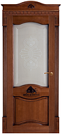 """Межкомнатные двери из массива дуба """"№3-Д"""" ПО,  60, 70, 80, 90, со стеклом"""