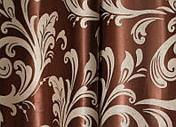"""Портьерная ткань blackout """"Веер"""" двухсторонняя (золотисто-шоколадный)"""