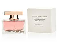 Женская туалетная вода Dolce & Gabbana Rose The One (Дольче Габбана Роуз Зе Ван) тестер, 75 мл.