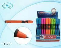 Ручка PIANO шарик мас для развития каллиграфии (левая) синяя PT-251 (50)
