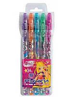 Набір гелевих ручок в PVC 5 кольорів Winx з блискітками 1Вересня 411119