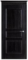 """Межкомнатные двери из массива дуба """"№5-Д"""" ПГ, черная патина,  60, 70, 80, 90"""