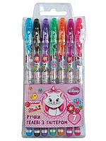Набор гелевых ручек в PVC 7 цветов Мэри Кэт с блестками 1Вересня 411120