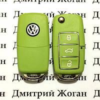 Корпус выкидного автоключа для VOLKSWAGEN (Фольксваген) 3 - кнопки, лезвие HU66,HU49