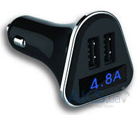 Зарядное устройство Siyoteam 4.2A Double USB Car Charger + LCD screen Black