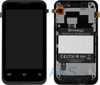 Дисплей (экран) для телефона Prestigio MultiPhone 4020 DUO + Touchscreen with frame Original Black