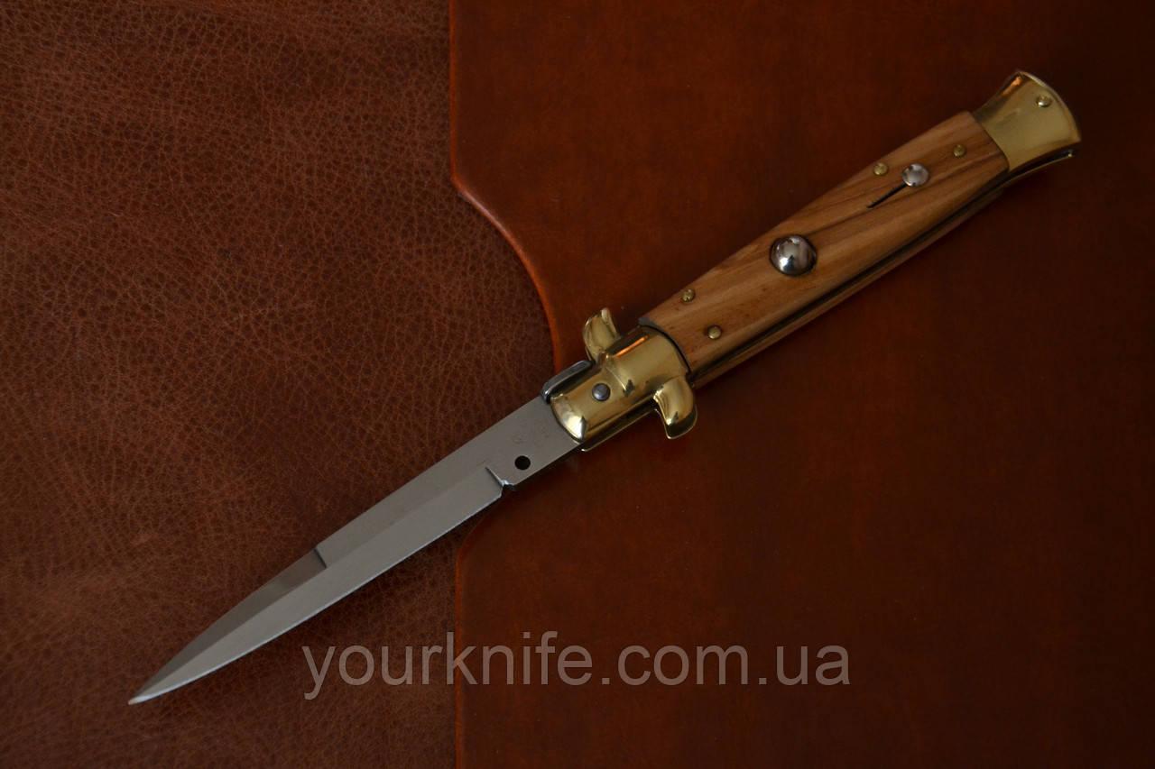 Нож Итальянский автоматический стилет Armando Beltrame (AB) 23см дерево оливы bayonet