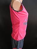 Яркие пижамки майка с шортами., фото 4