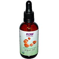 Аргановое масло натуральное, Now Foods, 59 мл