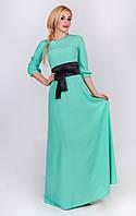 Женское платье в пол модного пастельного цвета