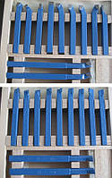 Набор токарных резцов по металлу 8х8 мм с напаянными пластинами, 11 шт