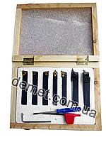 Набор токарных резцов по металлу (7 шт) 8х8 мм со сменными пластинами из цементированного карбида с титановым