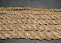 Веревка льнопеньковая, льняная, джутовая, диаметром 10мм-50мм, фото 1