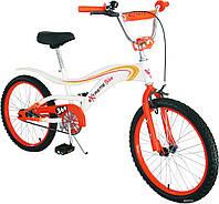 Детский велосипед 20 дюймов 152021, со звонком, зеркалом, руч.тормоз
