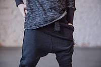 Штаны унисекс с накладной деталью, черные. Размеры: 98 см, фото 1