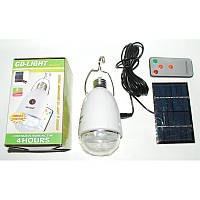 Светодиодная лампа + солнечная батарея GDLight GD-5005, аккумуляторная светодиодная лампа, GDLight GD-5005