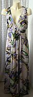Платье женское летнее модное легкое элегантное в пол макси бренд Atmosphere р.50 5759а
