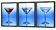 Модульная картина 387 коктейль