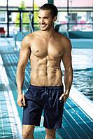 Шорты однотонные удлиненные мужские для плавания польские Self, фото 1